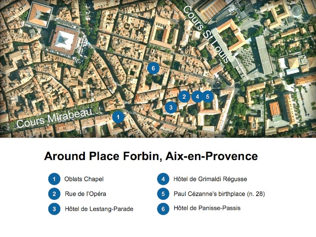 Aix-en-Provence Map around Place Forbin