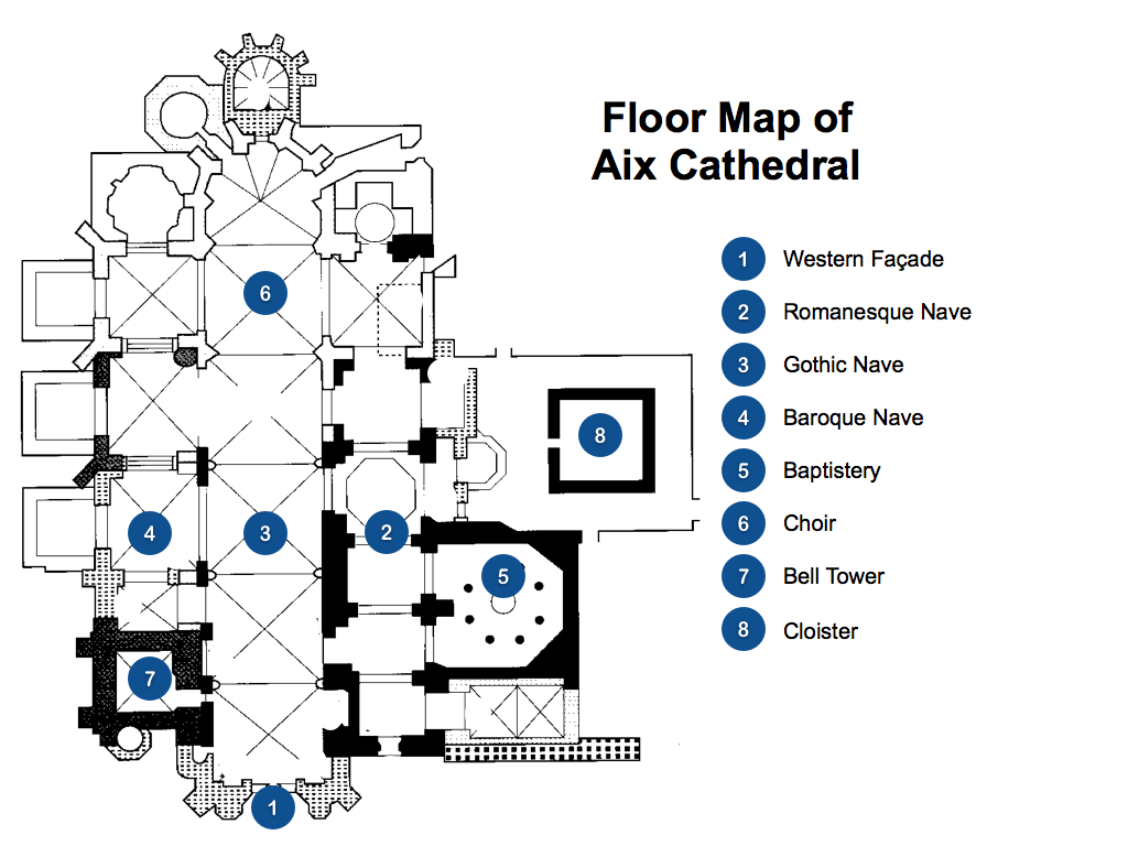 Floorplan of Aix Cathedral