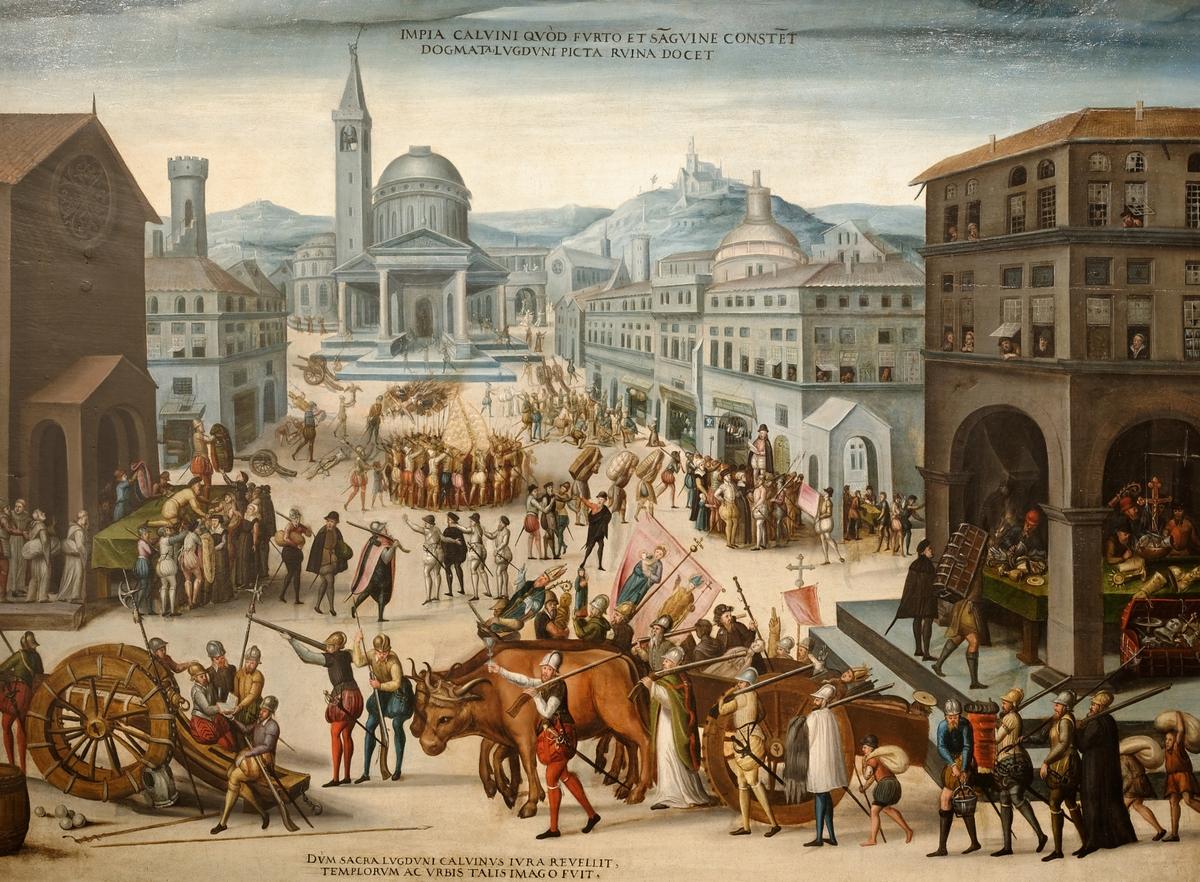 Le Sac de Lyon par les Réformés - ca 1565
