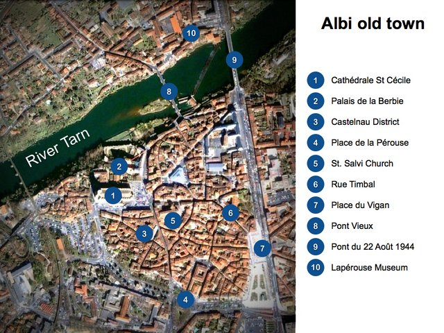 City Map of Albi