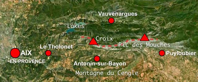 Map of Montagne Sainte-Victoire