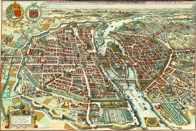 Mérian Map of Paris cc 1615