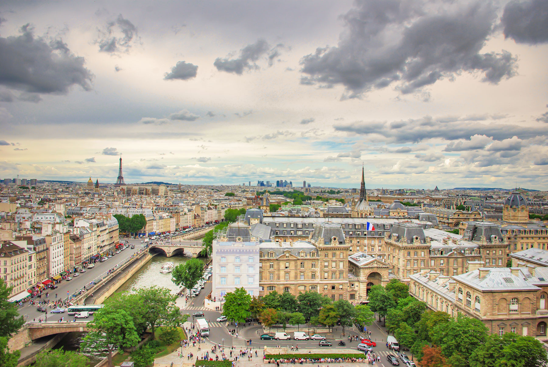 Paris from the towers of Notre-Dame © French Moments