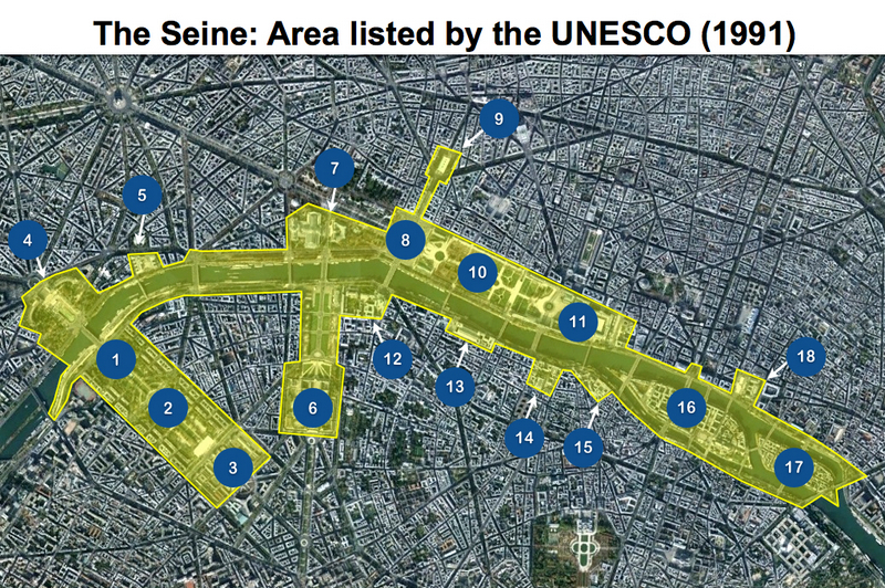 Seine in Paris Map Unesco