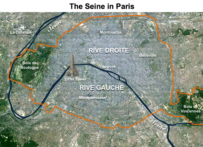 Seine in Paris Map