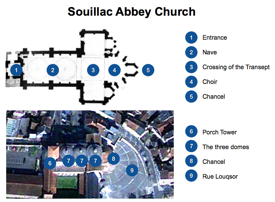 Souillac Church Floor Plan