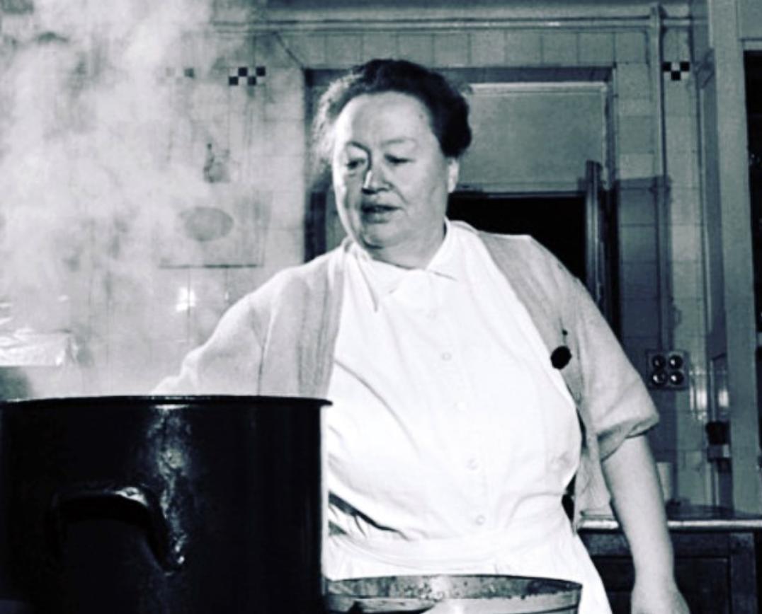 La Mère Brazier in her kitchen