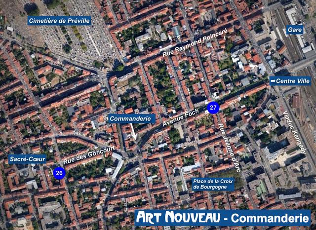 Nancy Art Nouveau - Commanderie Map