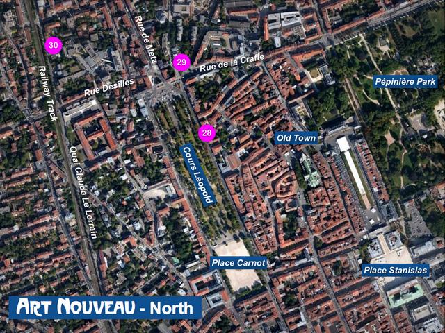 Nancy Art Nouveau - North Map