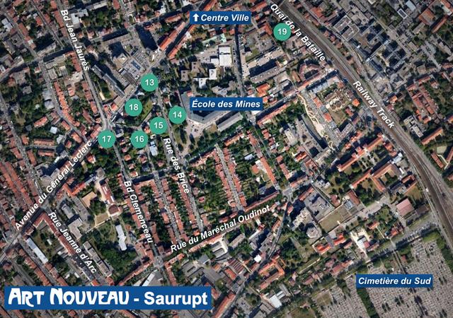 Nancy Art Nouveau - Saurupt Map