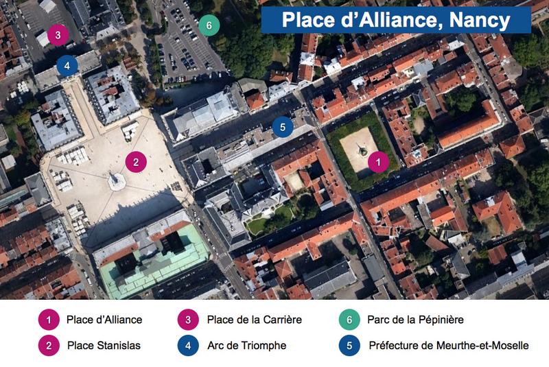 Place d'Alliance Nancy Map