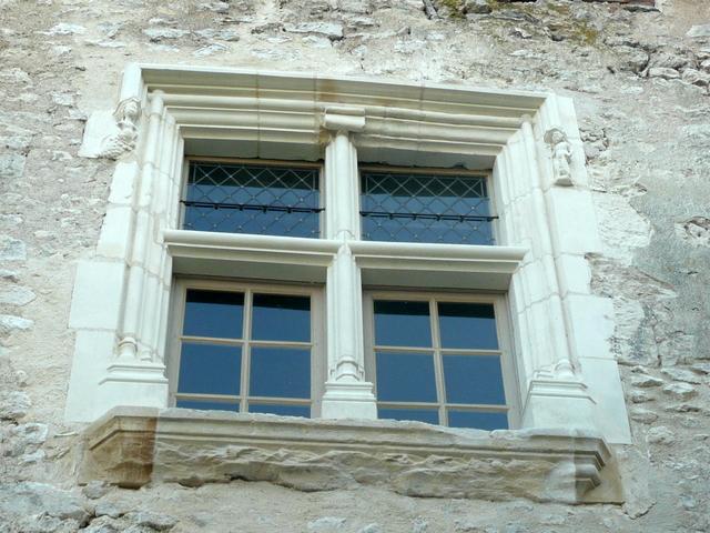 Mullioned window of the Bougrerie © Office de Tourisme du Val des Mauves at Meung-sur-Loire