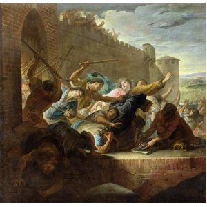Riots Expulsion of the Huguenots of Toulouse in 1562, by Antoine Rivalz in 1727