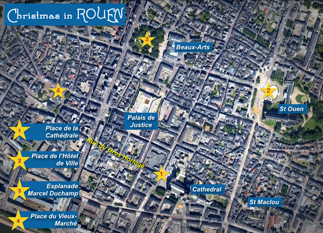 Rouen Christmas Map