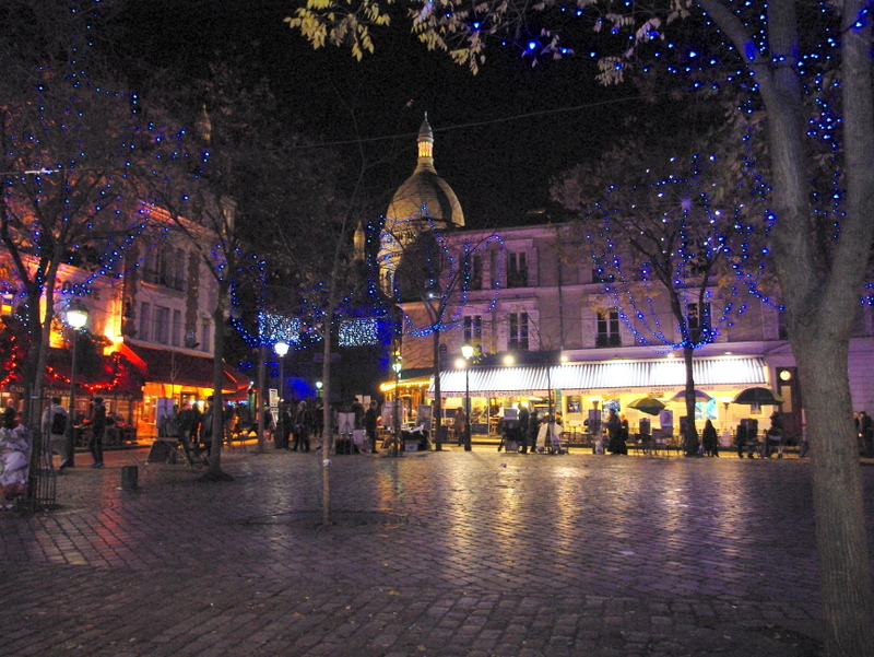 Christmas Place du Tertre © French Moments