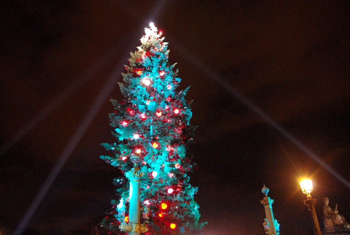 2012 Christmas tree on place de la Concorde, Paris © French Moments