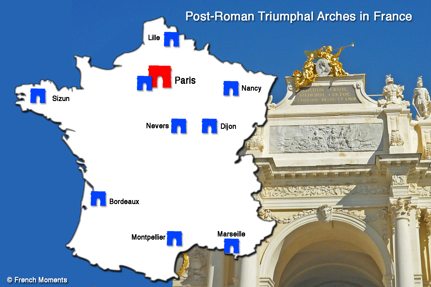 Carte Arcs De Triomphe En France FrenchMoments French Moments - Where is france on the map