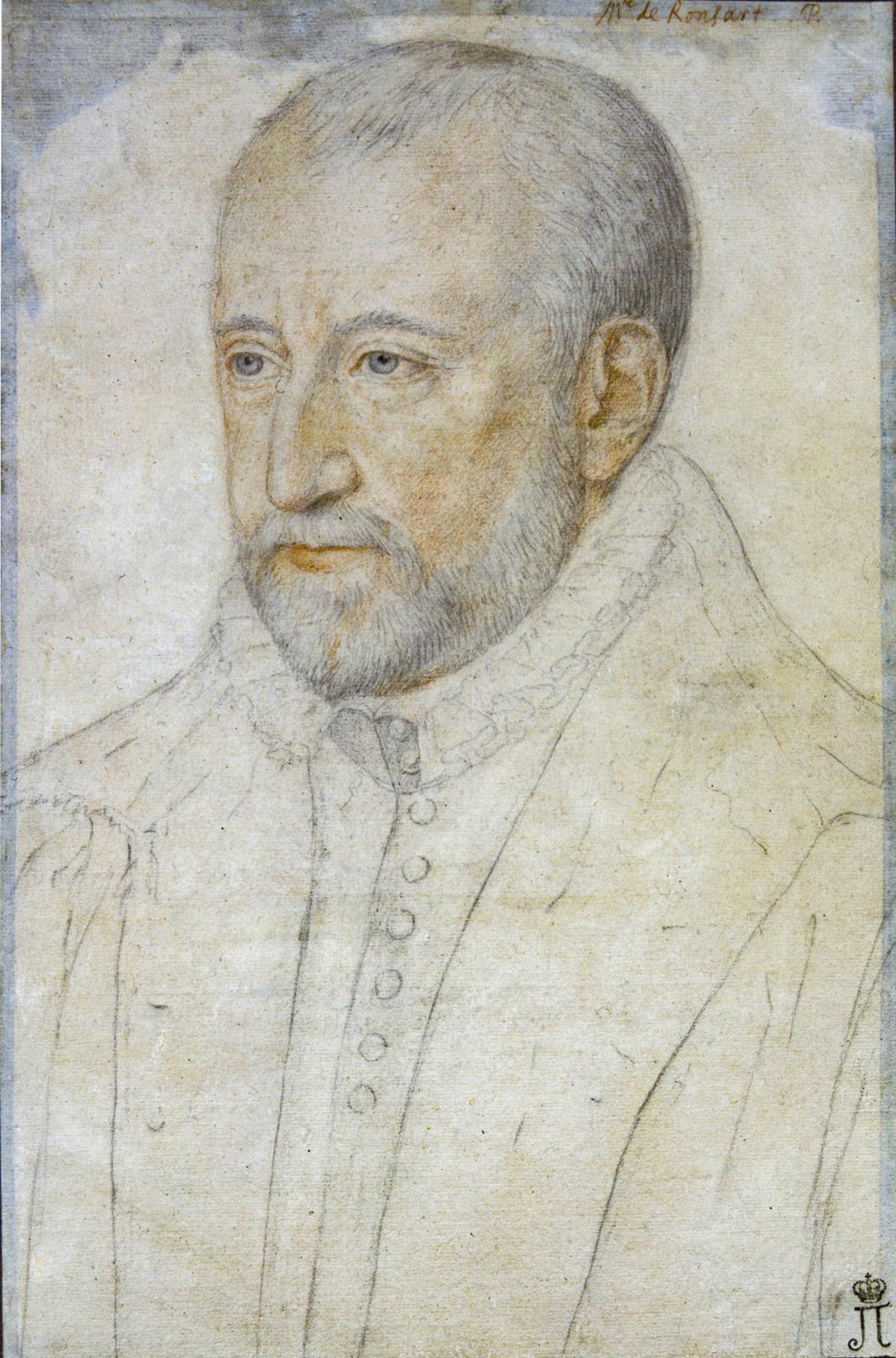 Portrait of Pierre de Ronsard by Benjamin Foulon - circa 1580-1585