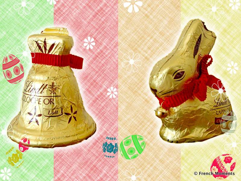 Cloche Lapin de Paques Lindt copyright French Moments
