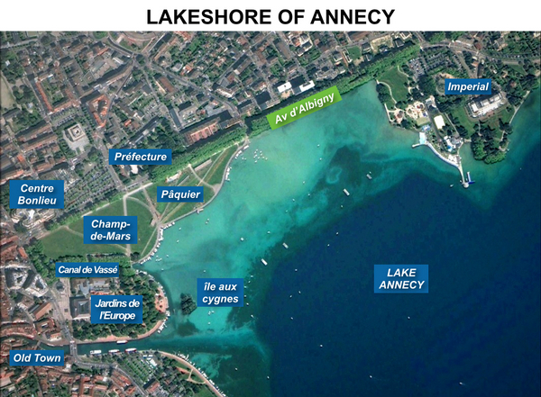 Annecy Lakeshore Map