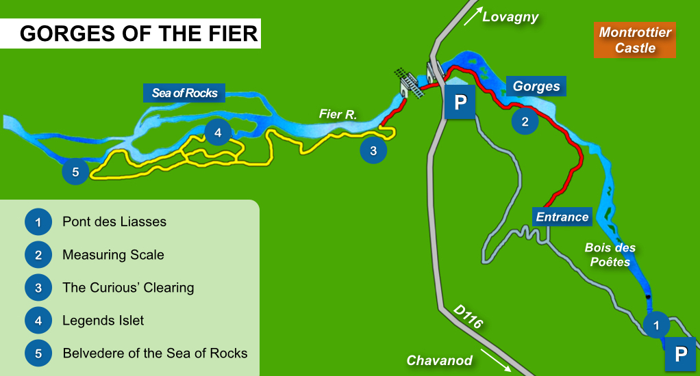 Gorges of the Fier Map © French Moments