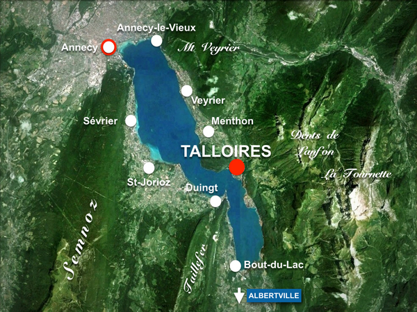 Map of Talloires