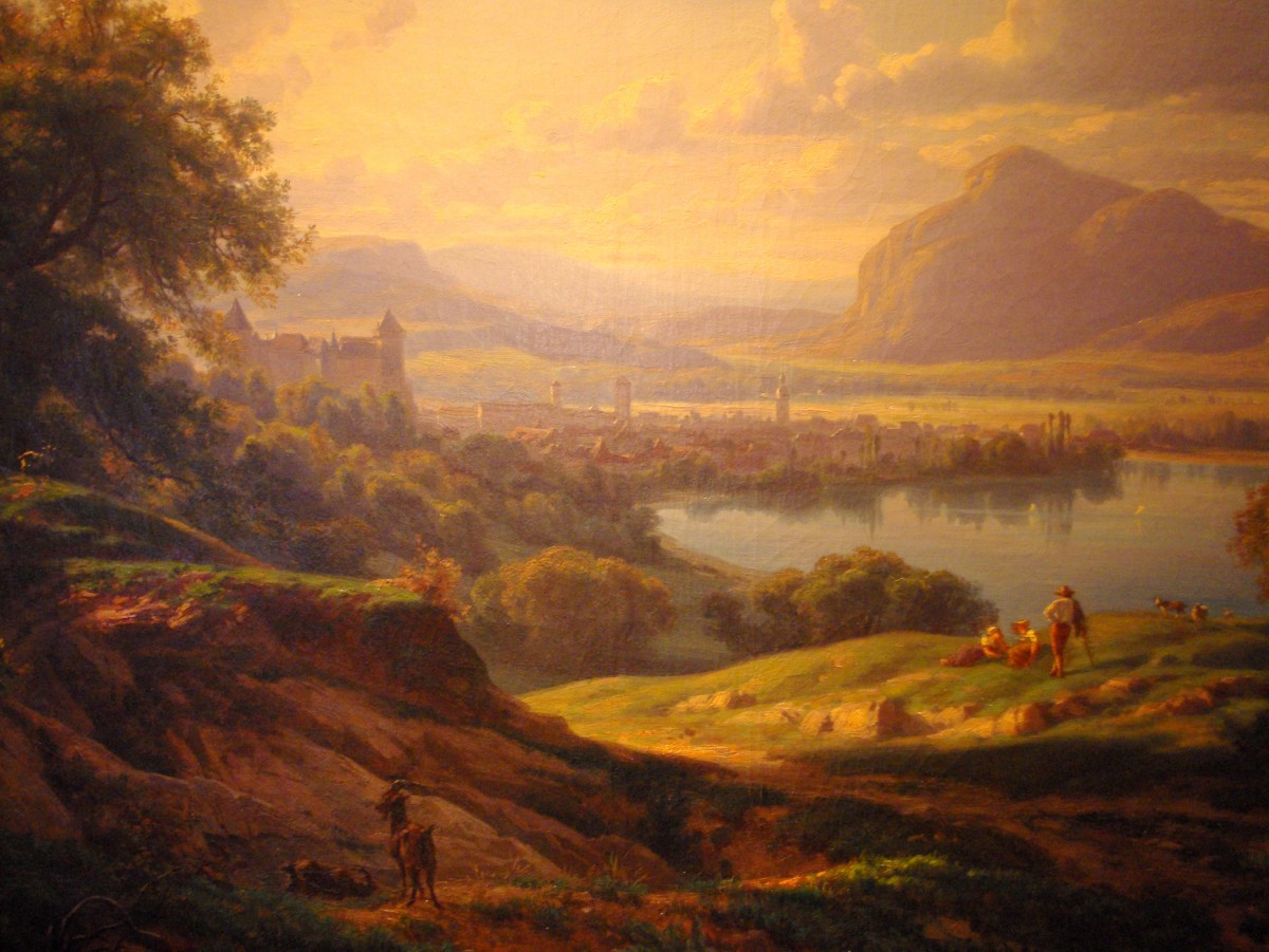 Painting of Annecy by Pierre Alexandre Jeanniot (1858), on display at the castle © French Moments