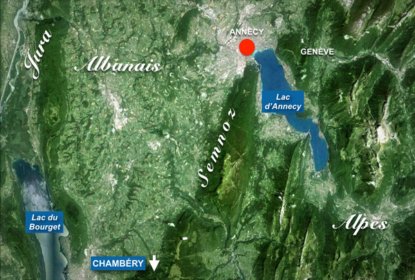 Semnoz Situation Map