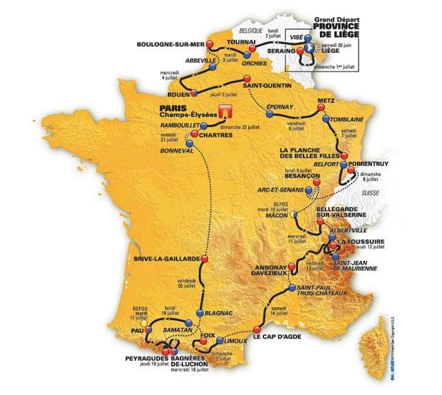 Route of the Tour de France 2012