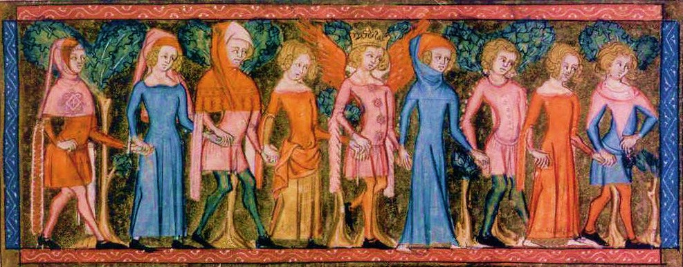 Holidays and celebrations in France - Dance party in the Middle Ages (14th C)