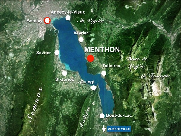 Map of Menthon