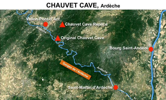 Chauvet Cave Map LR