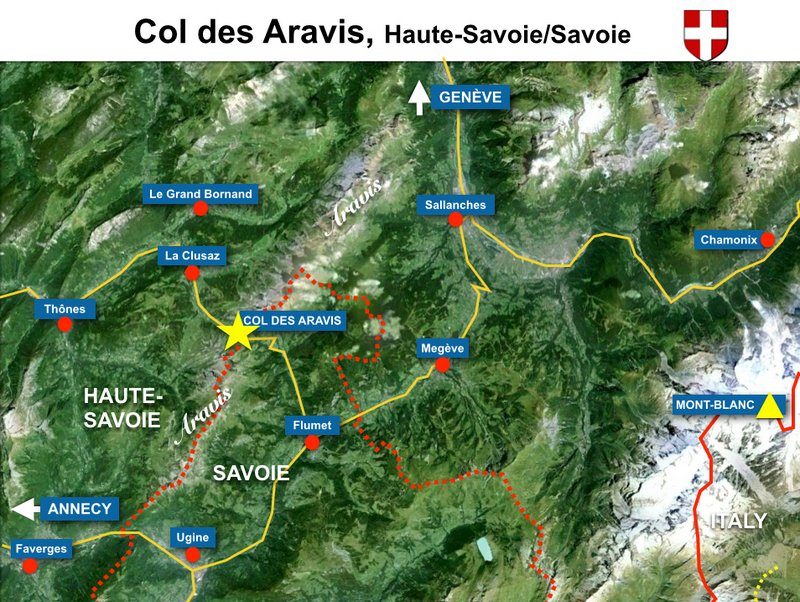 Map of Col des Aravis