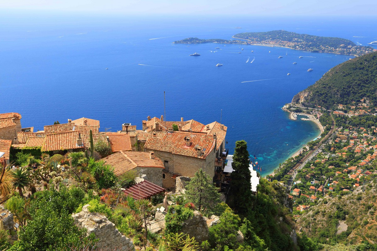 The perched village of Eze - Stock Photos from Mordechai Meiri - Shutterstock
