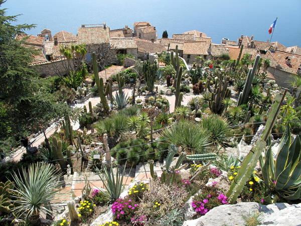 The exotic garden of Eze by Tangopaso (Public Domain)