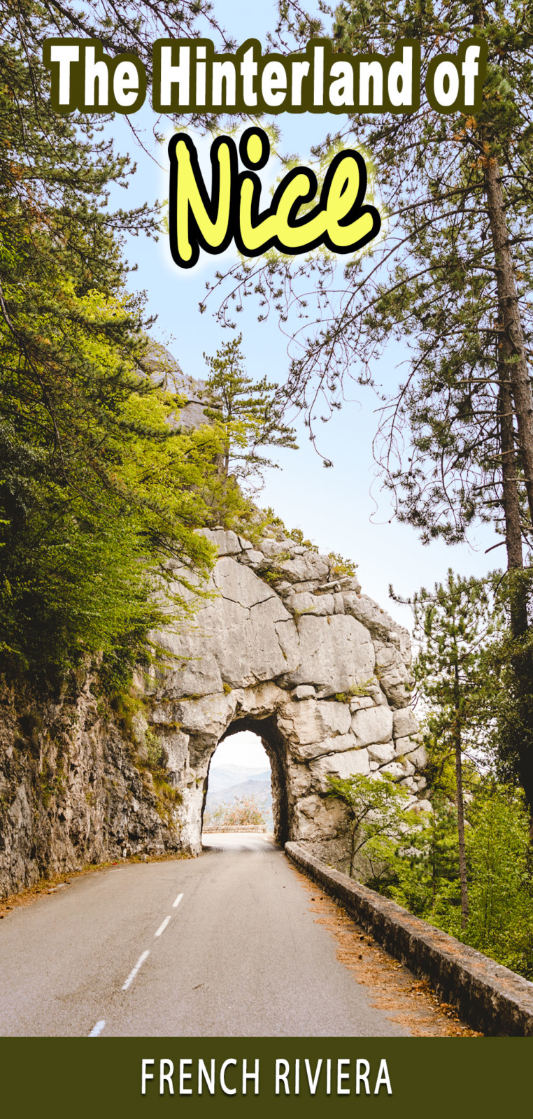Hinterland of Nice near Peille for Pinterest by French Moments