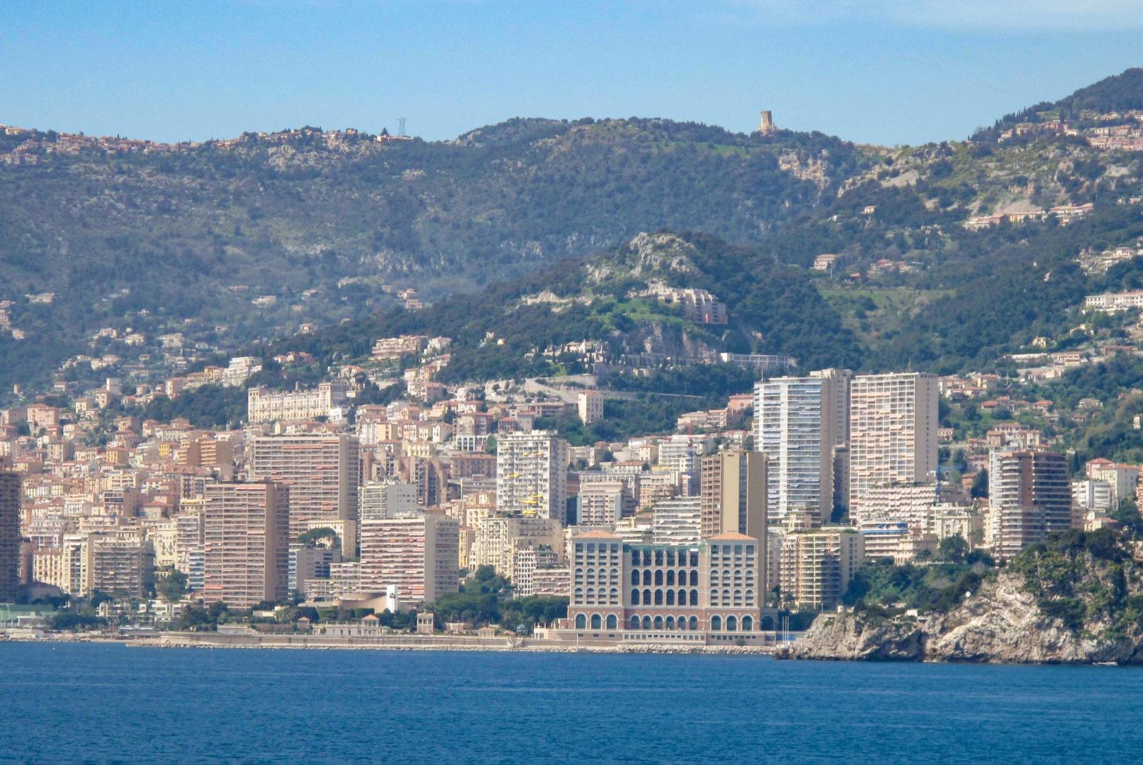 Monaco and Trophy of the Alpes from Cap-Martin. Photo: Tangopaso (Public Domain)