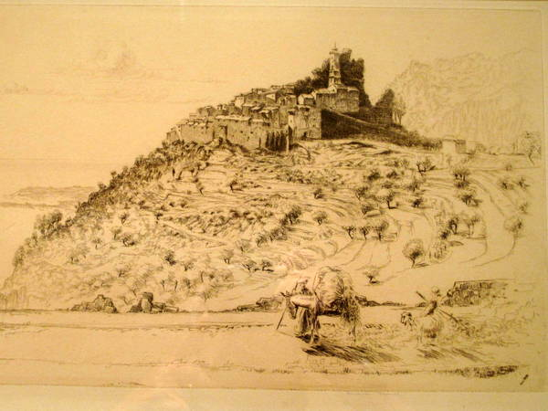 Old engraving Eze