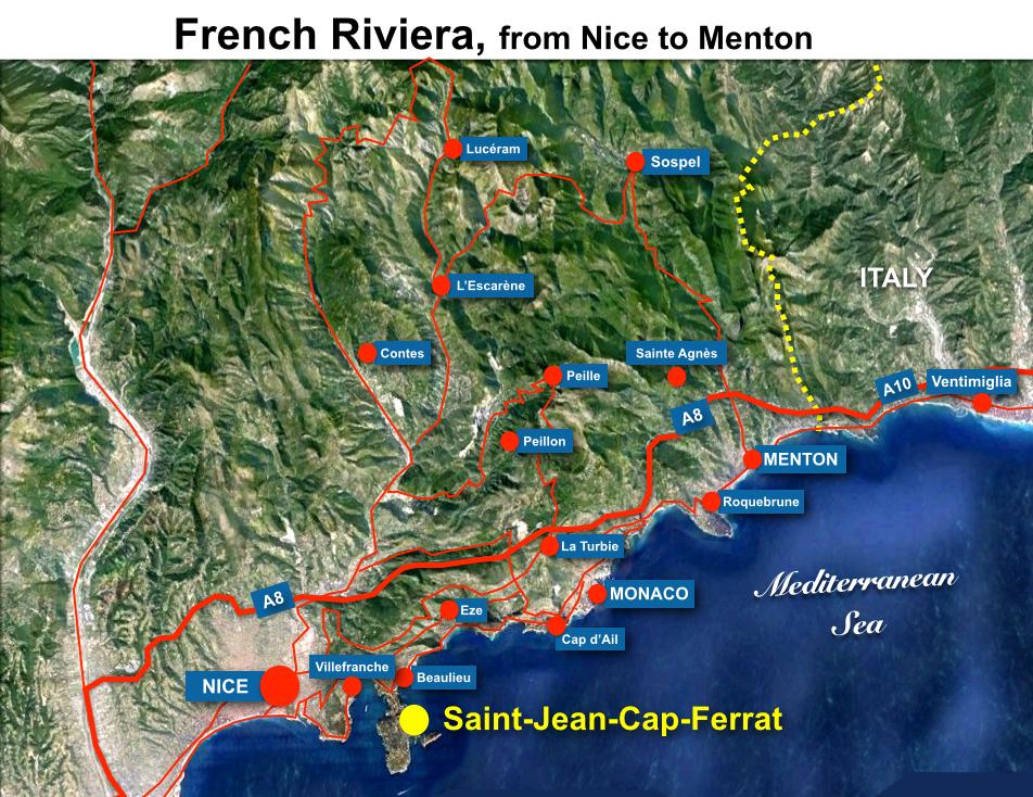 Saint-Jean-Cap-Ferrat Situation Map