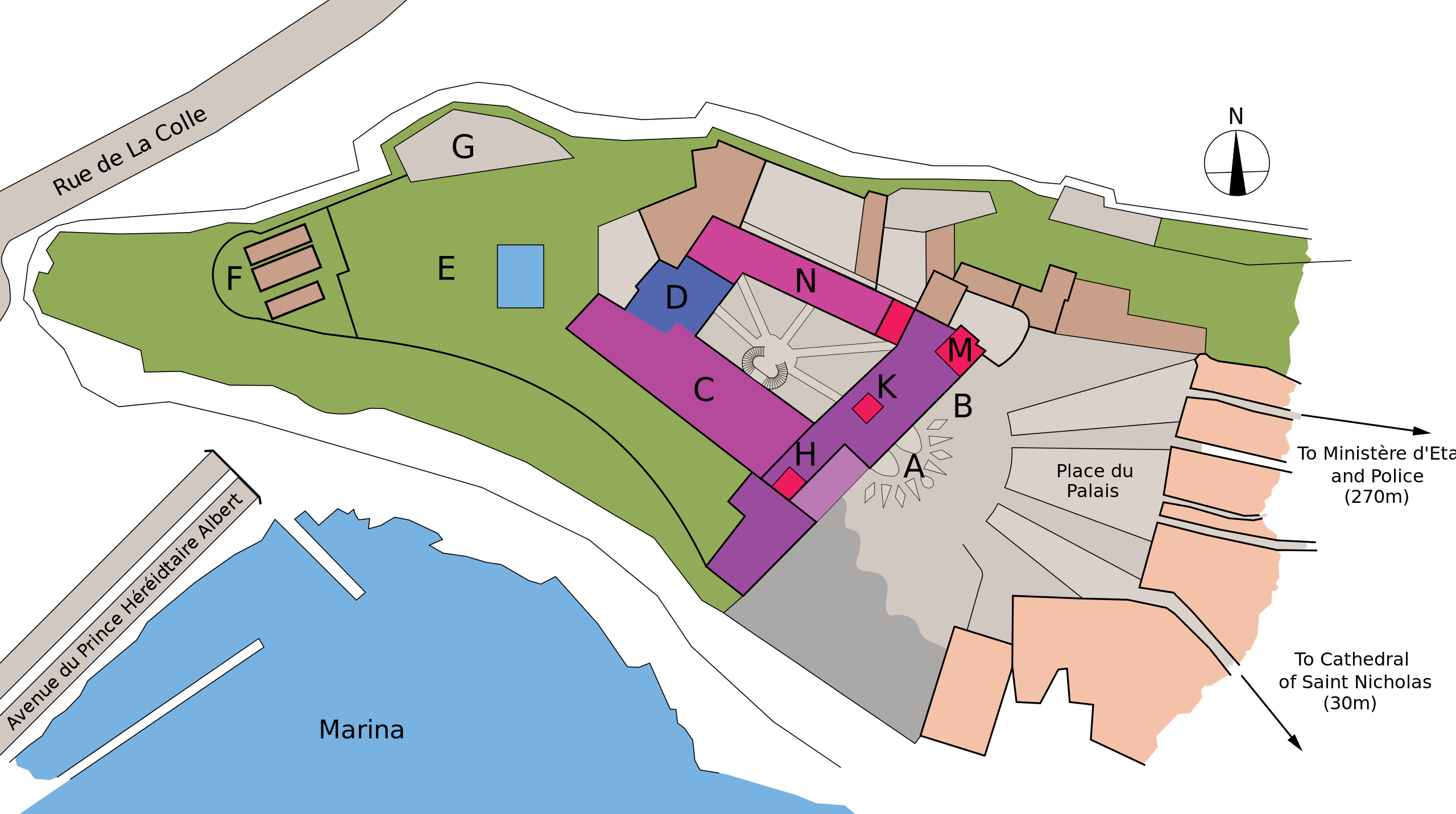 Map of Monaco's Palace by mcginnly (Public Domain)