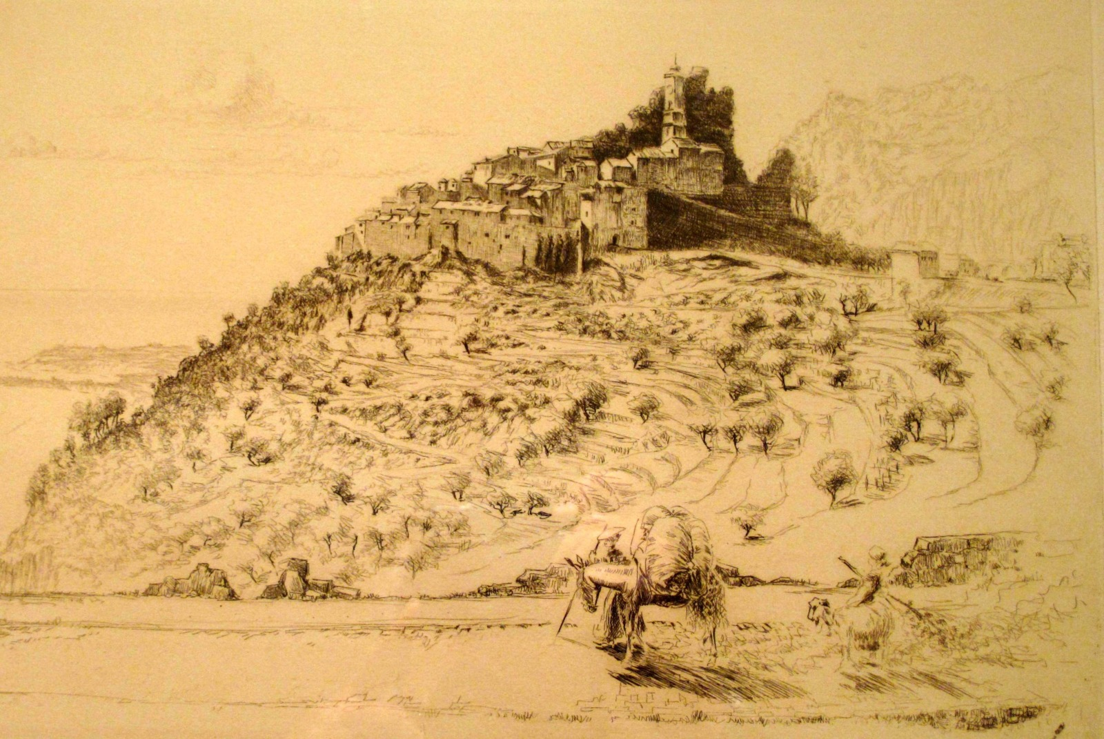 Old engraving of Eze