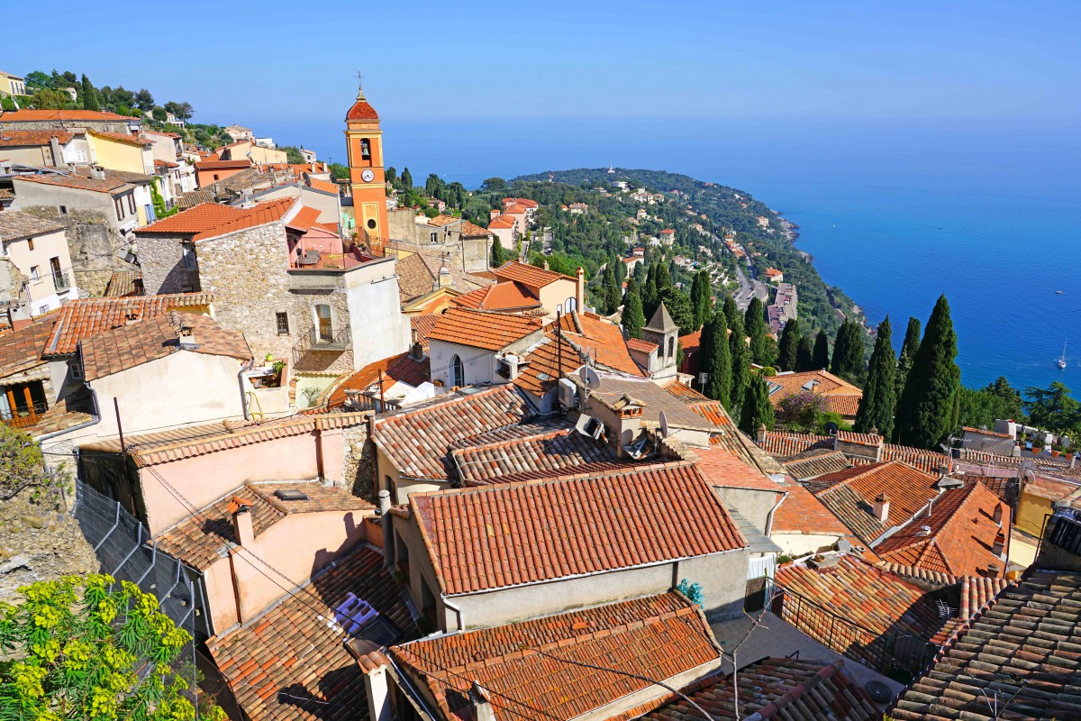 The perched village of Roquebrune - Stock Photos from EQRoy - Shutterstock
