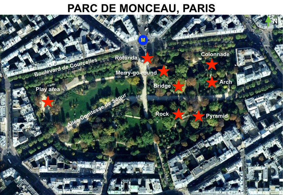 Map Parc Monceau LR by French Moments