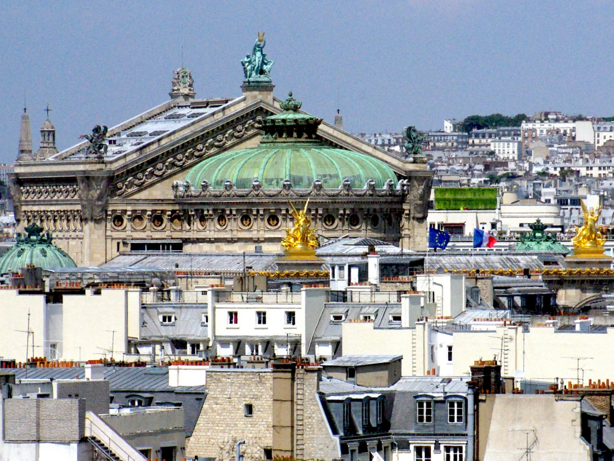 Palais Garnier viewed from Ferris Wheel of Tuileries copyright French Moments