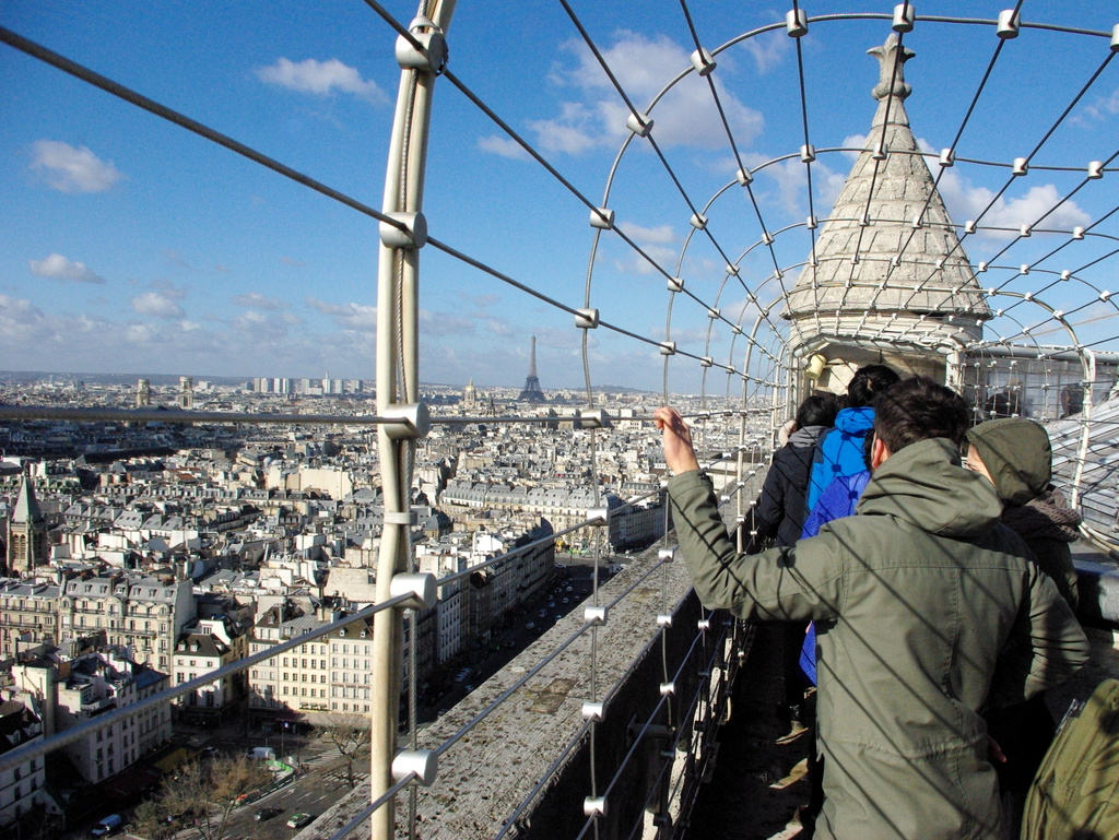 At the top of the South Tower, Notre-Dame de Paris © French Moments