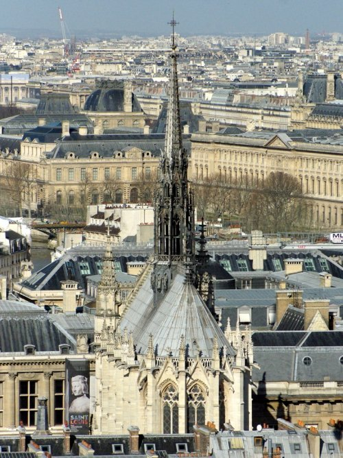 Sainte-Chapelle seen from Notre-Dame © French Moments