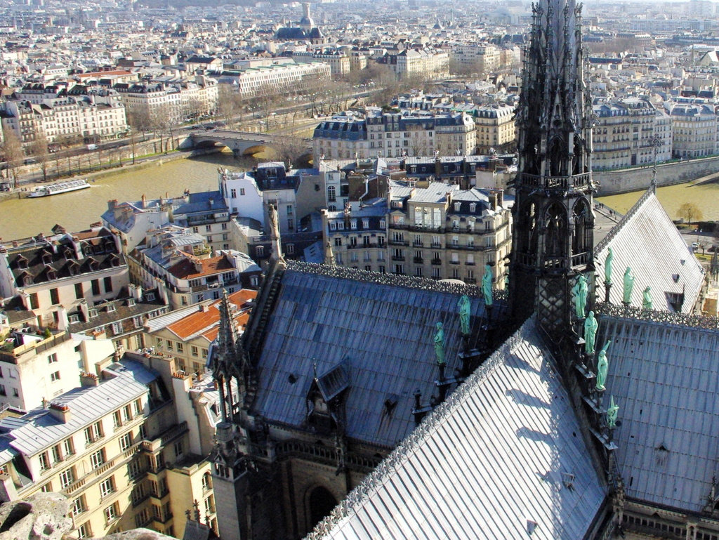 """The """"quartier du chapitre"""" from the towers of Notre-Dame © French Moments"""
