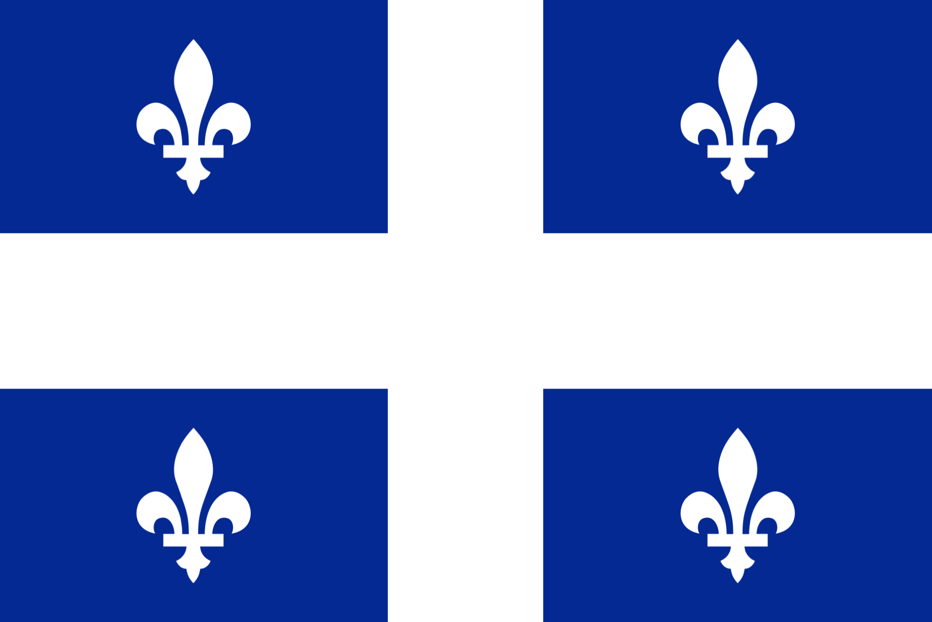 The flag of Quebec
