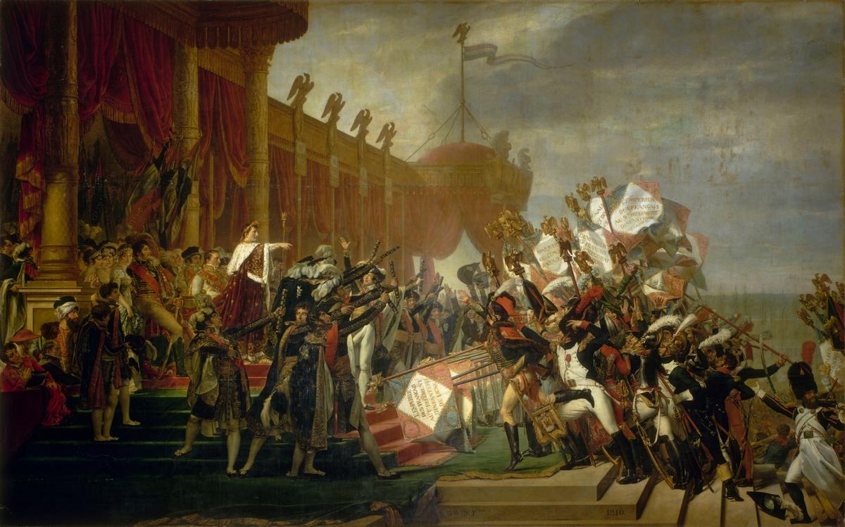 Serment de l'Armée fait à l'Empereur après la Distribution des Aigles au Champ de Mars, Jacques-Louis David 1810