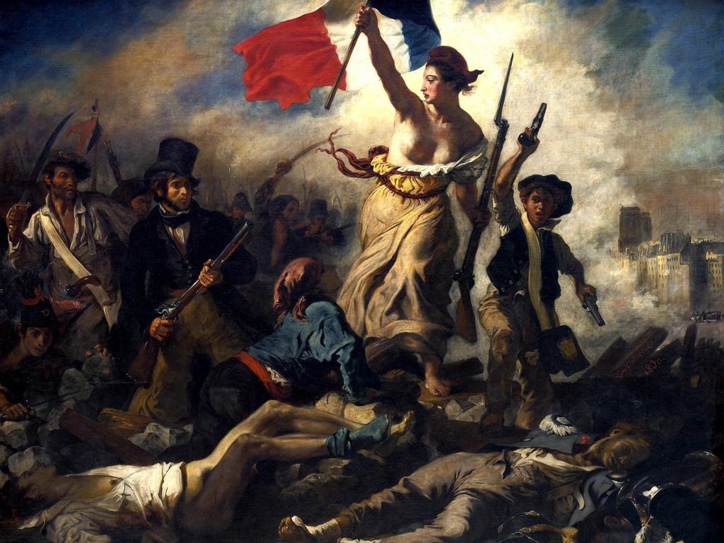 La Liberté guidant le peuple by Eugène Delacroix, painting from 1830